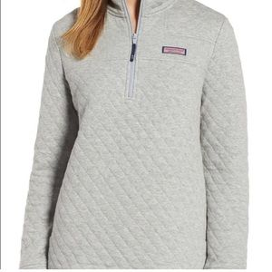 Vineyard Vines Relaxed Quilted Shep Shirt - Grey - Size XL